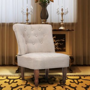 vidaXL French Chair Cream Fabric