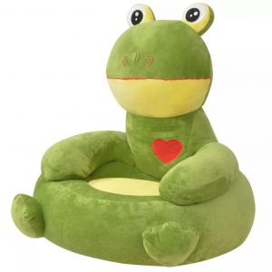 vidaXL Plush Children's Chair Frog Green