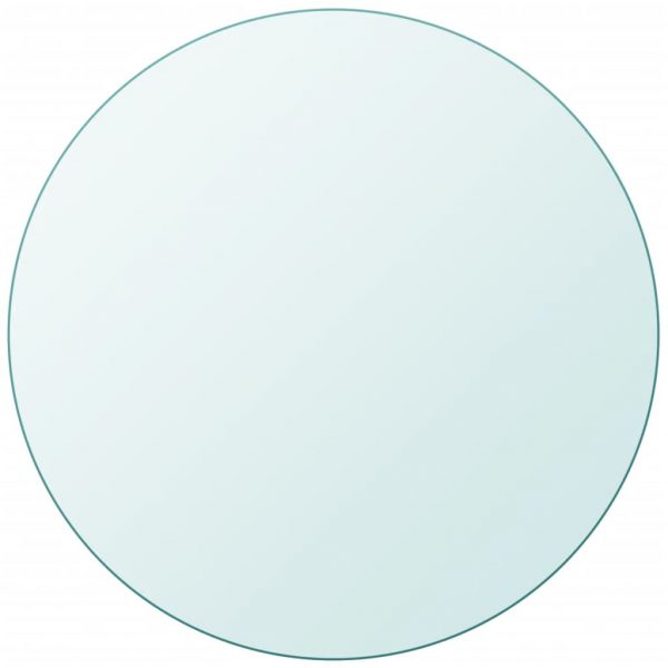 vidaXL Table Top Tempered Glass Round 400 mm
