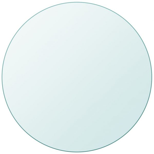 vidaXL Table Top Tempered Glass Round 500 mm