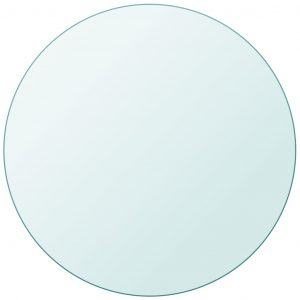 vidaXL Table Top Tempered Glass Round 600 mm