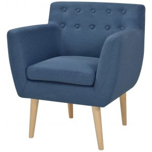 vidaXL Armchair Blue Fabric
