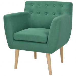 vidaXL Armchair Green Fabric