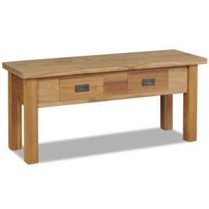 vidaXL Hall Bench Solid Teak 90x30x40 cm