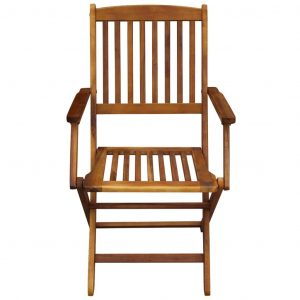 Folding Outdoor Chairs 2 pcs Solid Acacia Wood