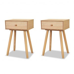Bedside Tables 2 pcs Solid Pinewood 40x30x61 cm Brown