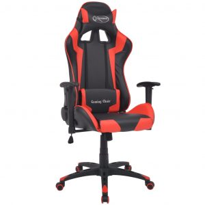 vidaXL Reclining Office Racing Chair Artificial Leather Red