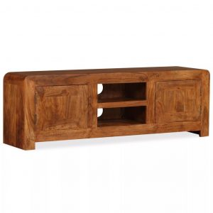 vidaXL TV Cabinet 120x30x40 cm Solid Wood with Sheesham Finish