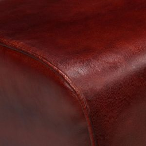 Bench Genuine Leather Brown 160x28x50 cm