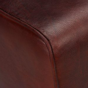 Bench Genuine Leather Brown 120x30x45 cm