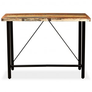 Bar Table 150x70x107 cm Solid Reclaimed Wood