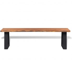 Bench Solid Acacia Wood 145 cm