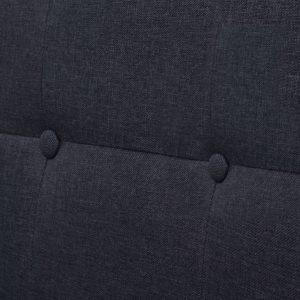 2-Seater Sofa with Armrests Steel and Fabric Dark Grey