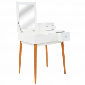 vidaXL Dressing Table with Mirror MDF 60x50x86 cm