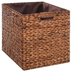 Bench with 2 Baskets Seagrass 71x40x42 cm Brown