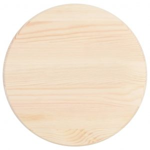 Table Top Natural Pinewood Round 25 mm 30 cm