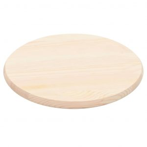 vidaXL Table Top Natural Pinewood Round 25 mm 50 cm