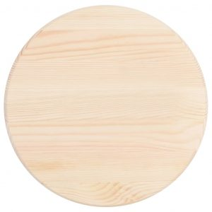Table Top Natural Pinewood Round 25 mm 50 cm