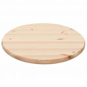 Table Top Natural Pinewood Round 25 mm 60 cm