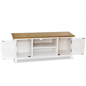 TV Cabinet 120x35x48 cm Solid Oak Wood