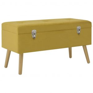 vidaXL Bench with Storage Compartment 80 cm Mustard Velvet