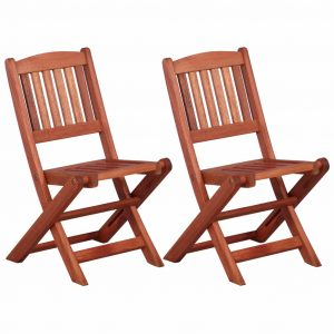 vidaXL Children's Dining Chairs 2 pcs Solid Eucalyptus Wood