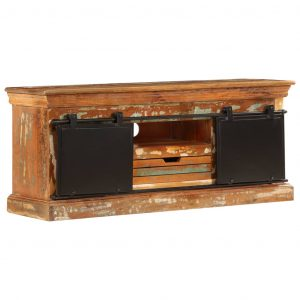 vidaXL TV Cabinet 110x30x45 cm Solid Reclaimed Wood