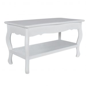 Coffee Table 2 Tiers MDF White