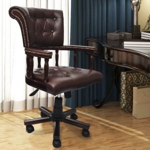 Chesterfield Captains Swivel Office Chair Brown