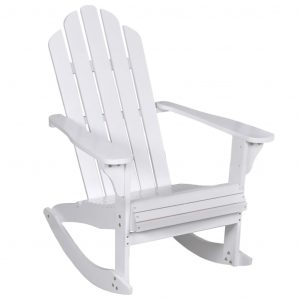 vidaXL Garden Rocking Chair Wood White