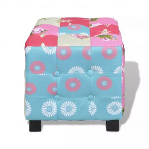 Patchwork Foot Stool Hocker Pastoralism Style Quality