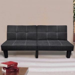 vidaXL Sofa Bed Fabric Adjustable Black