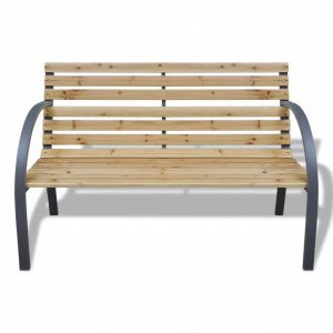 Garden Bench 120 cm Wood and Iron