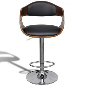 Bar Stool Bent Wood and Faux Leather
