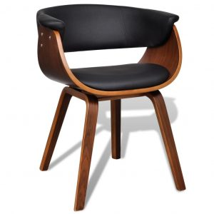 vidaXL Dining Chair Bent Wood and Faux Leather