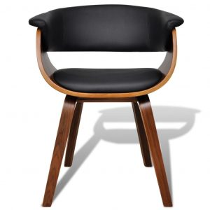 Dining Chair Bent Wood and Faux Leather