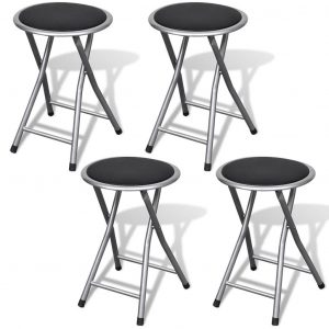 vidaXL Folding Bar Stools 4 pcs Faux Leather