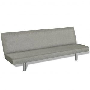Sofa Bed Grey Polyester