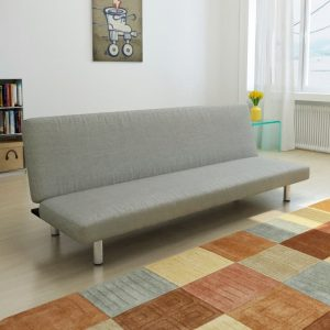 vidaXL Sofa Bed Grey Polyester