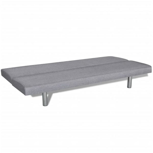 Sofa Bed Light Grey Polyester