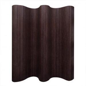 vidaXL Room Divider Bamboo Dark Brown 250×195 cm