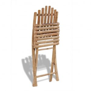 Foldable Outdoor Chairs Bamboo 4 pcs