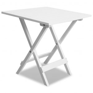 vidaXL Bistro Table White 46x46x47 cm Solid Acacia Wood