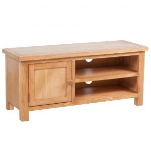 vidaXL TV Cabinet 103 x 36 x 46 cm Solid Oak Wood
