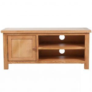 TV Cabinet 103 x 36 x 46 cm Solid Oak Wood