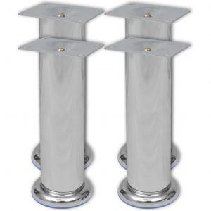 vidaXL Round Sofa Legs 4 pcs Chrome 180 mm