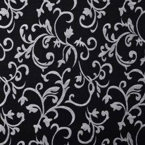Chaise Longue Black and White Fabric