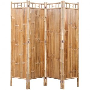 4-Panel Bamboo Room Divider