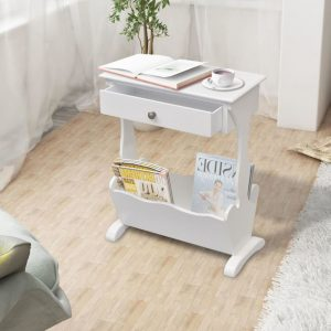 "vidaXL Magazine Rack ""Melrose"" White"