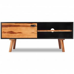 TV Cabinet 120x35x50 cm Solid Acacia Wood